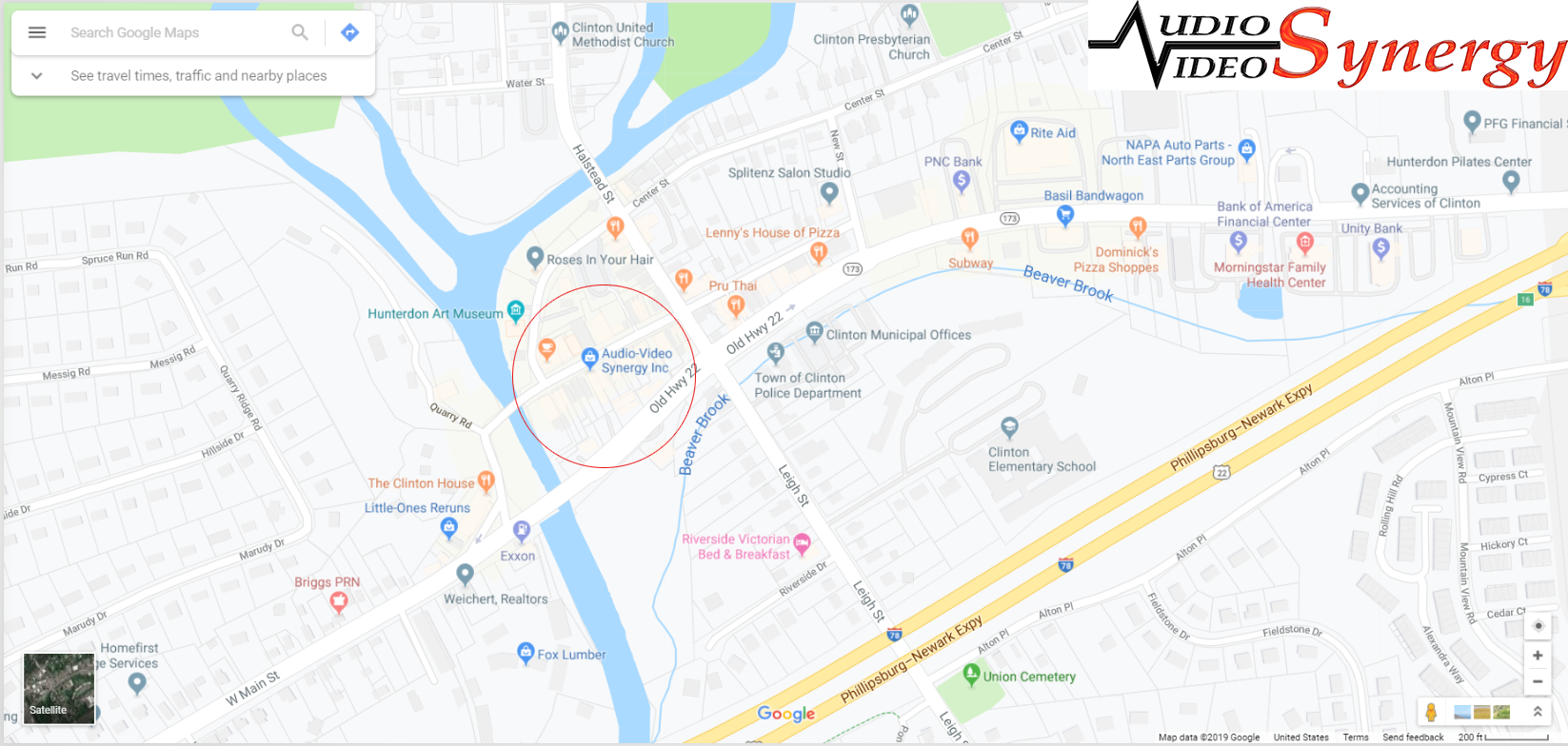 AVS Map for contact page